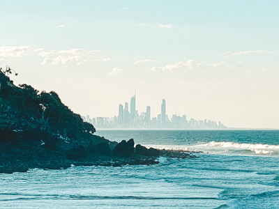 Gold Coast Skyline view from Burleigh