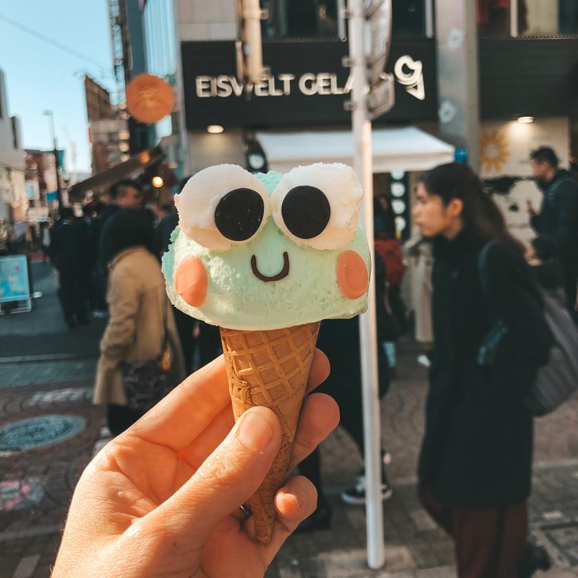 Froggy gelato harajuku tokyo tavel guide travel blog