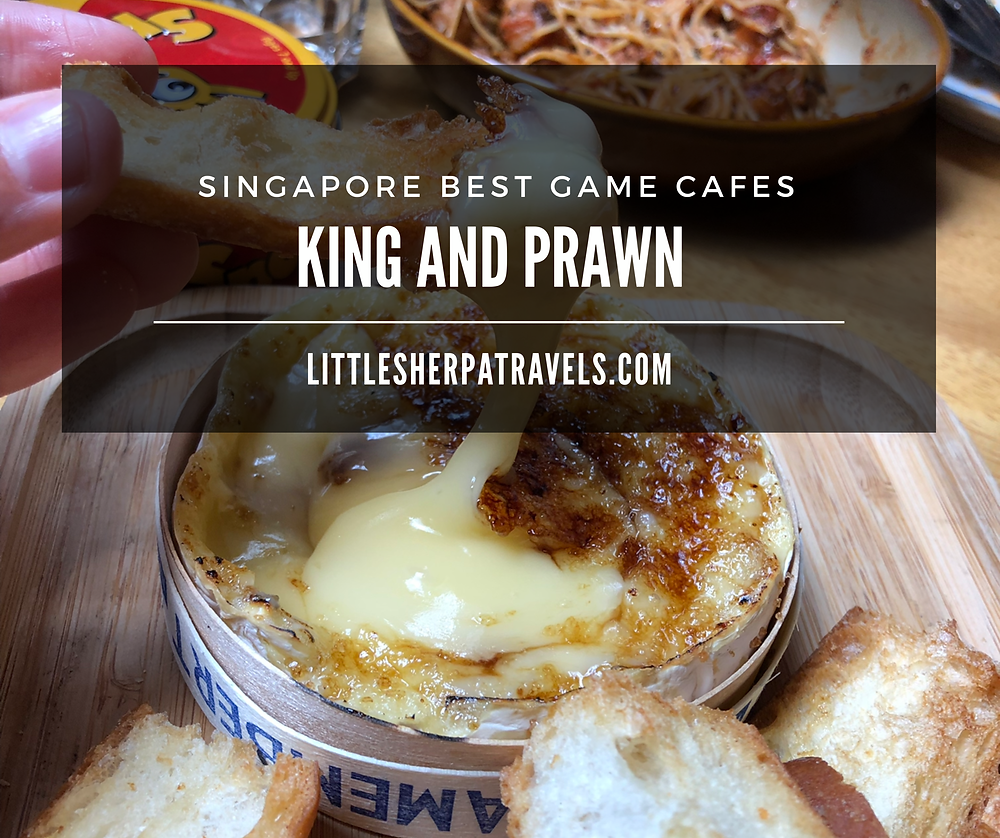 King and Prawn board game cafe and bar Singapore Purvist street