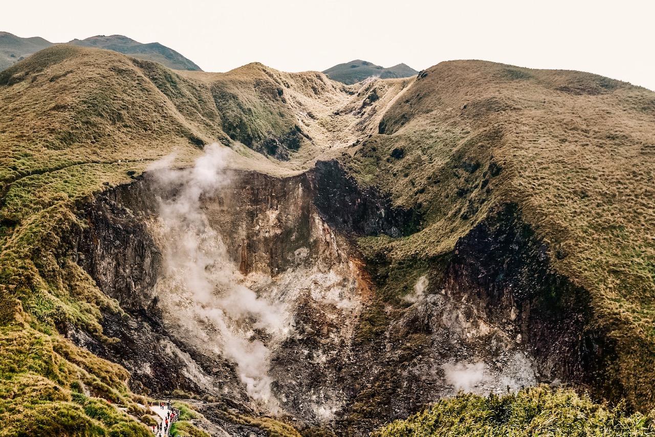 Yangminshan national park Taipei Xiaoyoukan volcano