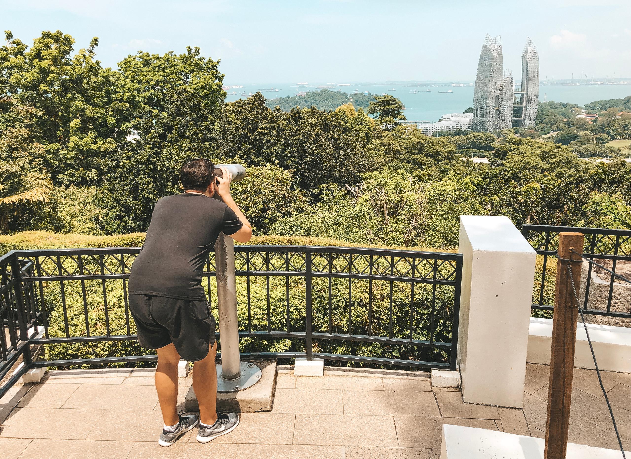mount faber park singapore telescope look out point southern ridges