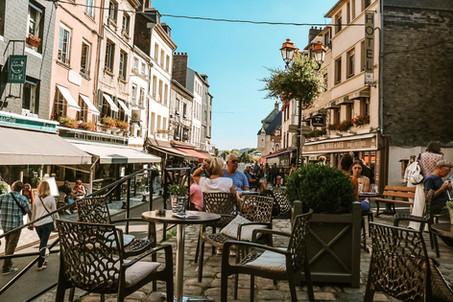 Honfleur Normandy France cafe