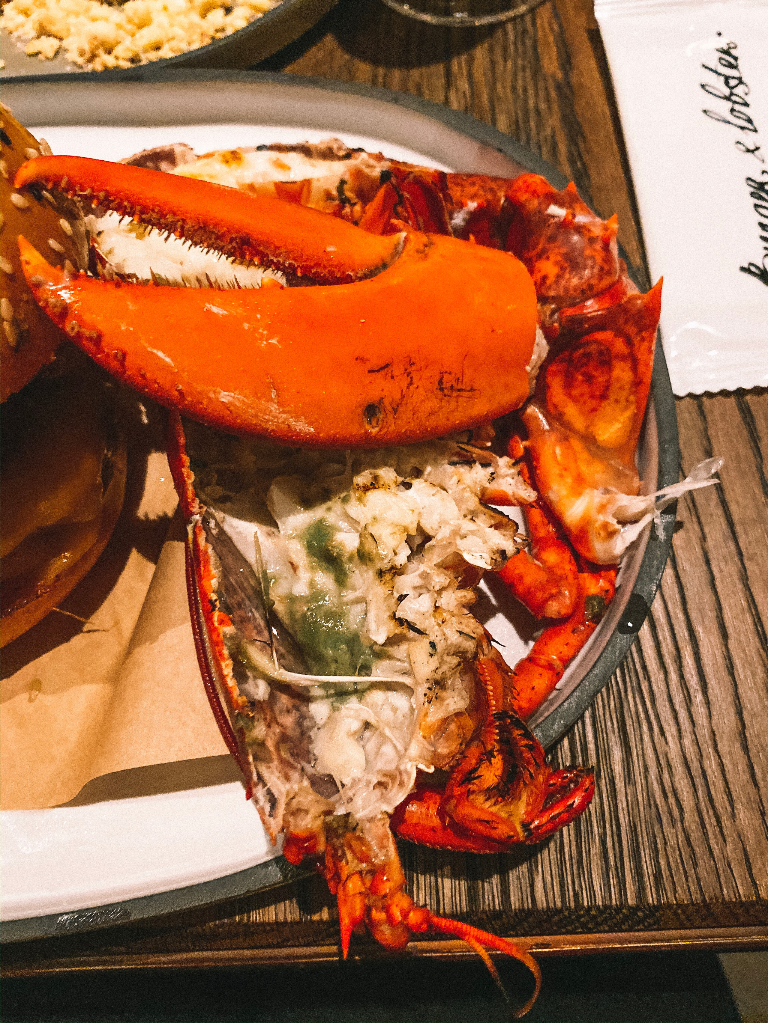 Burger and lobster Raffles hotel singapore lobster
