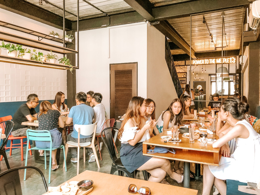 King and prawn board game cafe bar Singapore Purvis Street