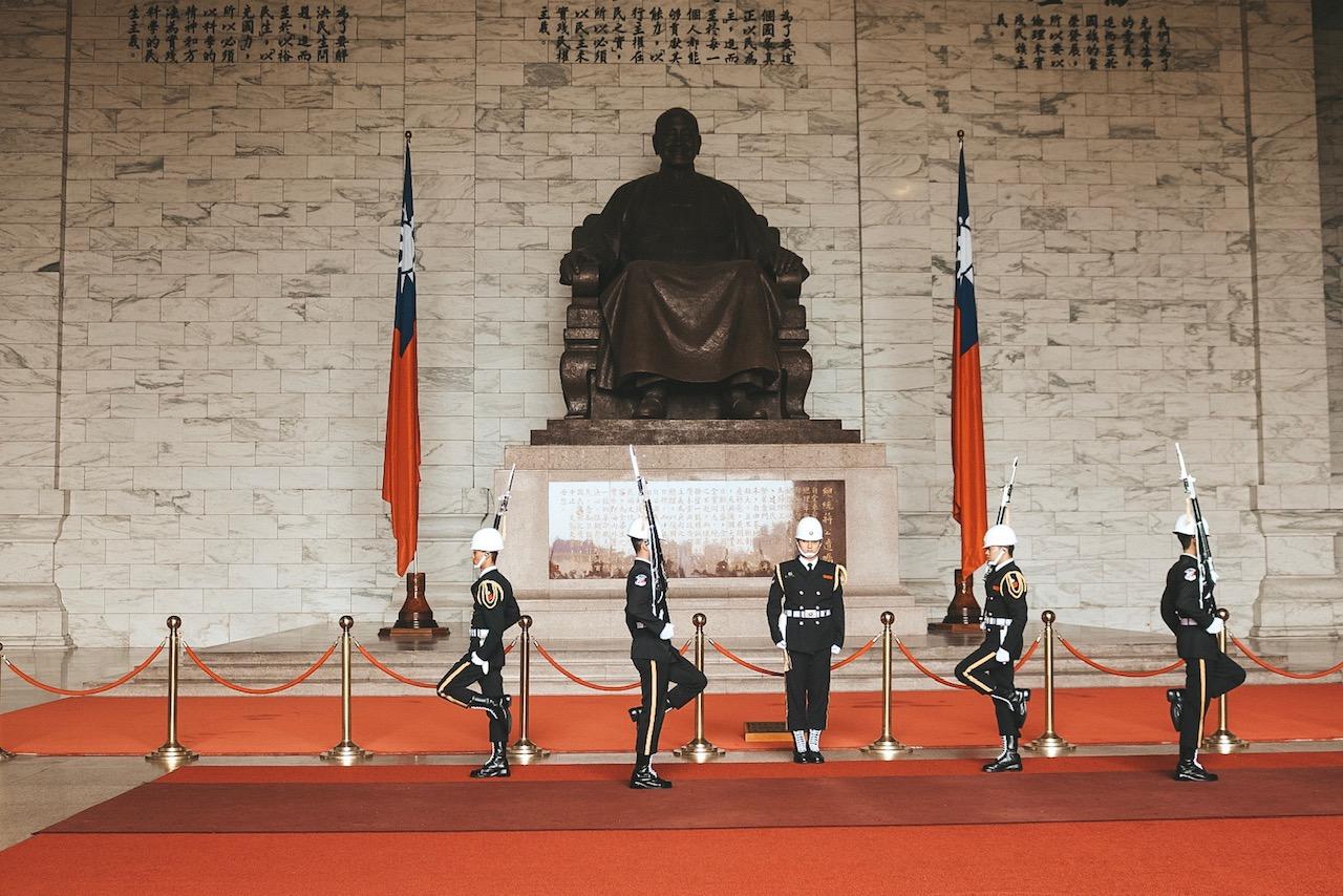 National Chiang Kai-shek Memorial Hall changing of the guard taipei