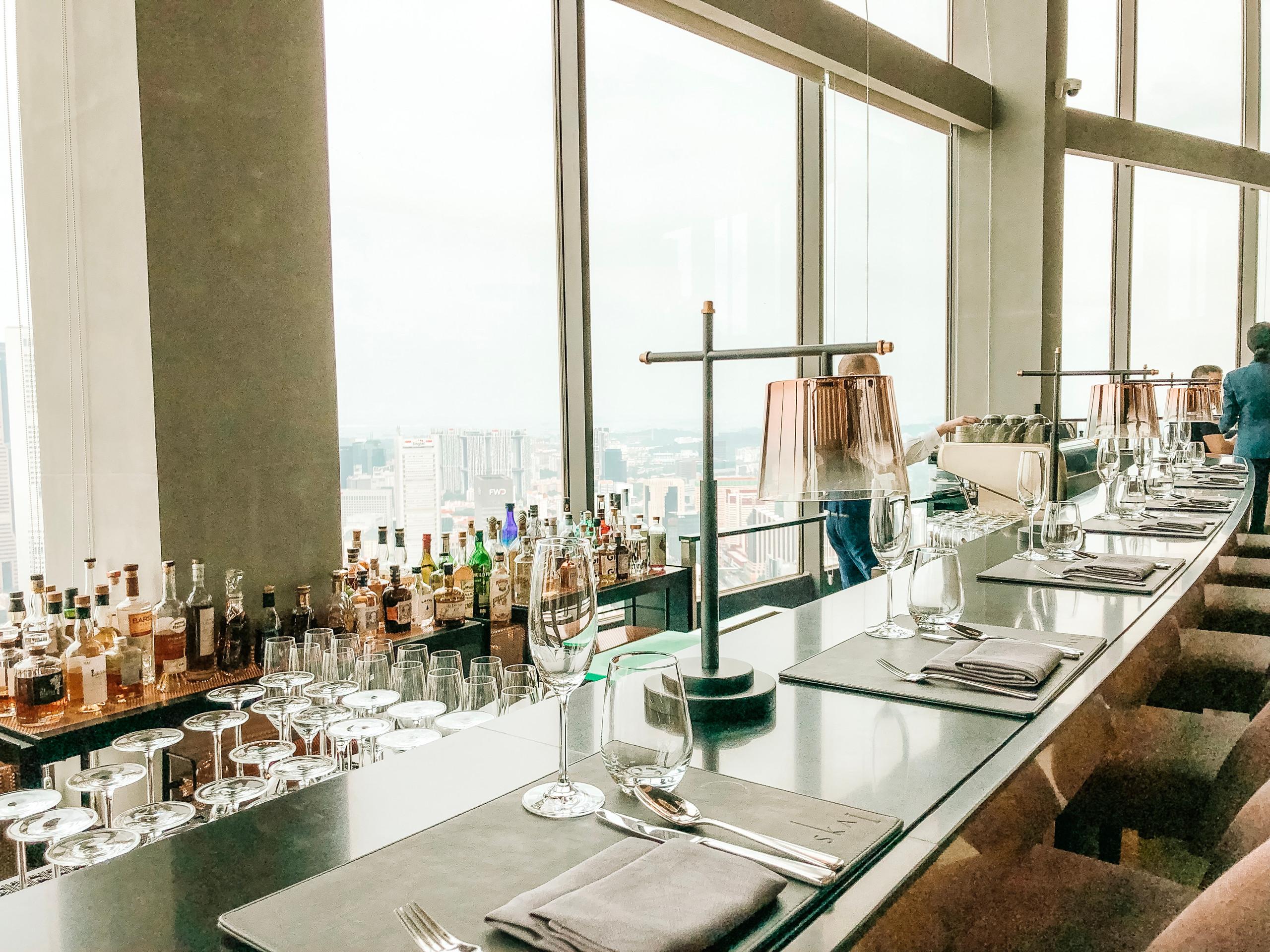 SKAI Bar and restaurant champagne buffet brunch Swissotel the stamford Singapore