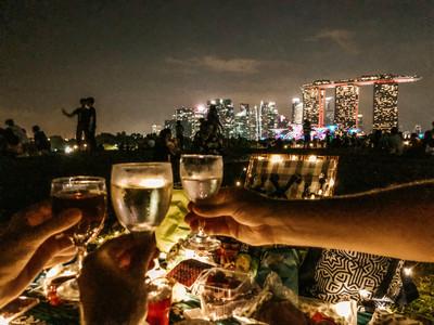 Singapore best picnic spots marina barrage marina bay wine