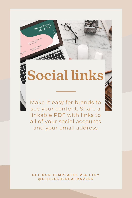 Media Kit Essentials: Social Media Links