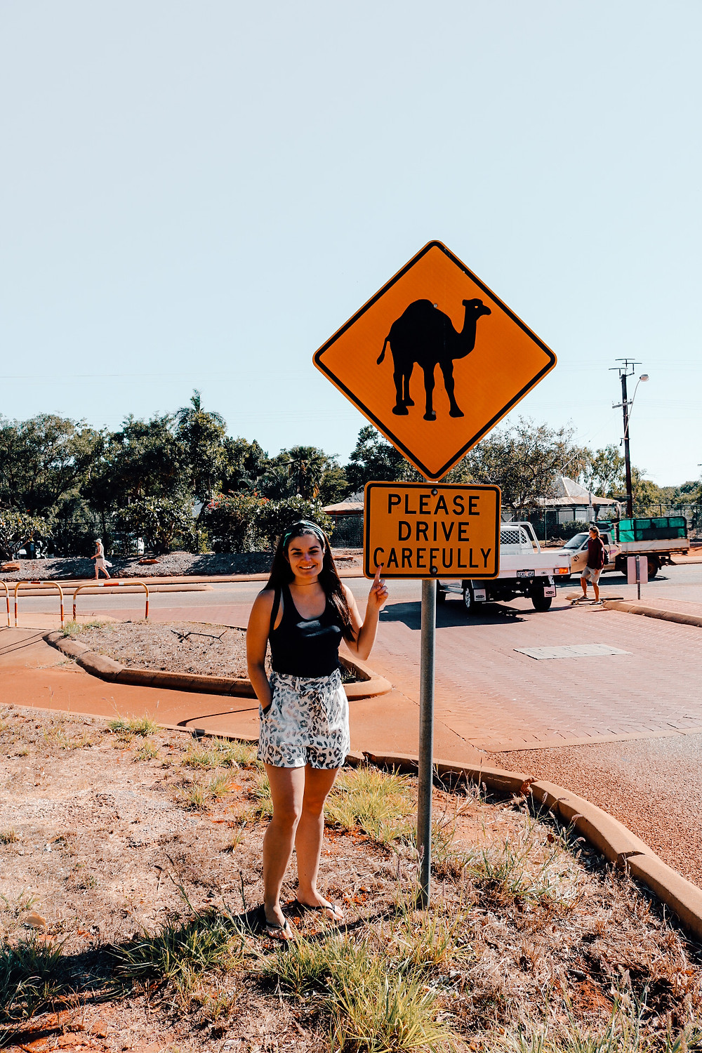 Australia please drive carefully animal sign