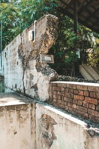 Penang War Museum Malaysia explosion damage