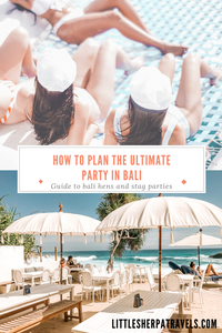 Guide to planning a hens and bucks party in Bali Indonesia