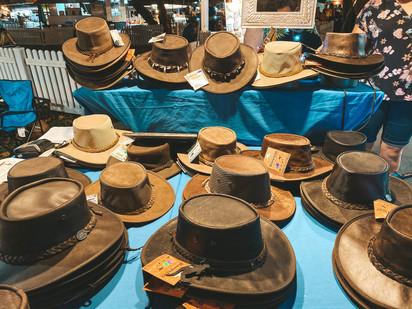 Mindil Beach night markets darwin outback hat