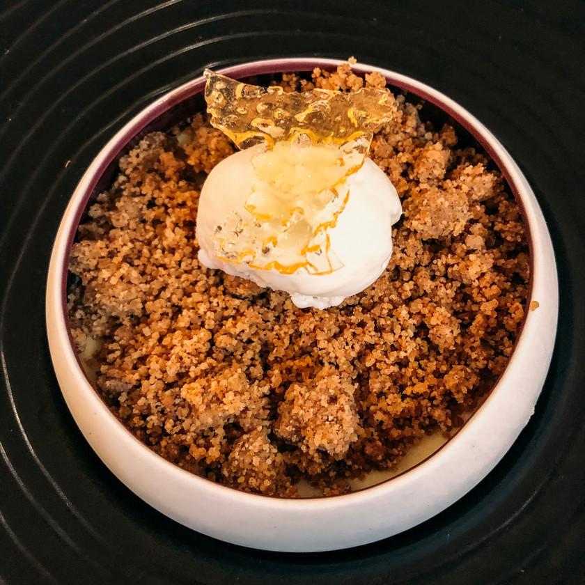 Dessert Restaurant La Glycine Benouville