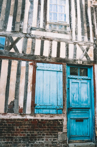 Honfleur Normandy France blue door house
