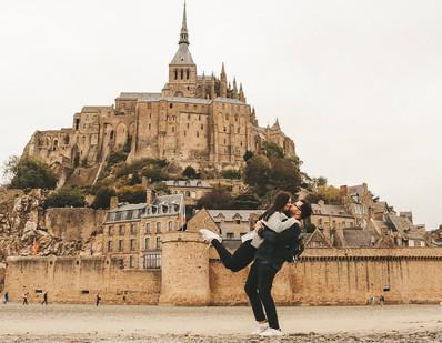 Mont Saint Michel Normandy France couple