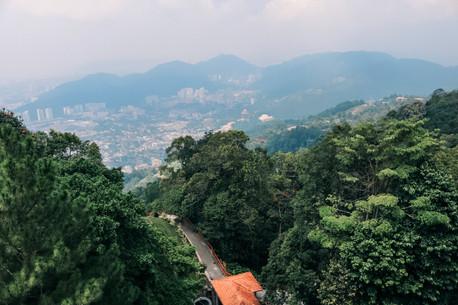 Penang Hill funicular railway view