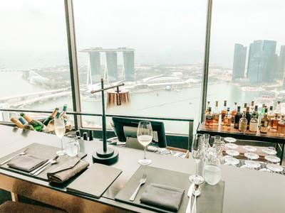 SKAI Bar and restaurant Singapore Swissotel the stamford rooftop bar champagne wine