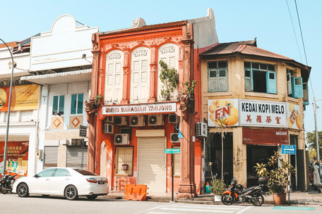 Georgetown penang colourful shop houses