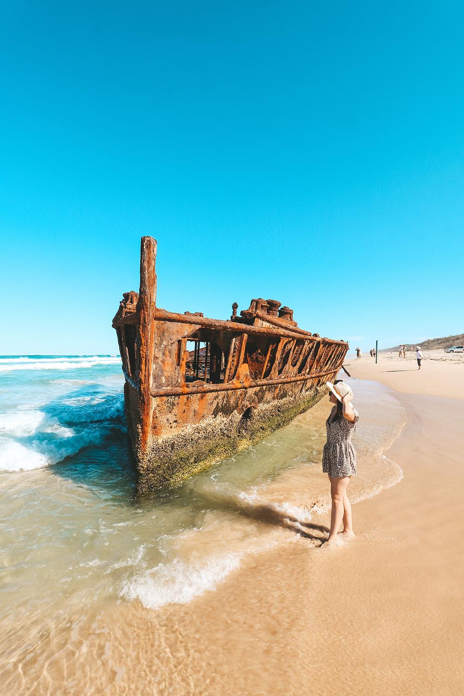 The Maheno Shipwreck, Fraser Island, QLD