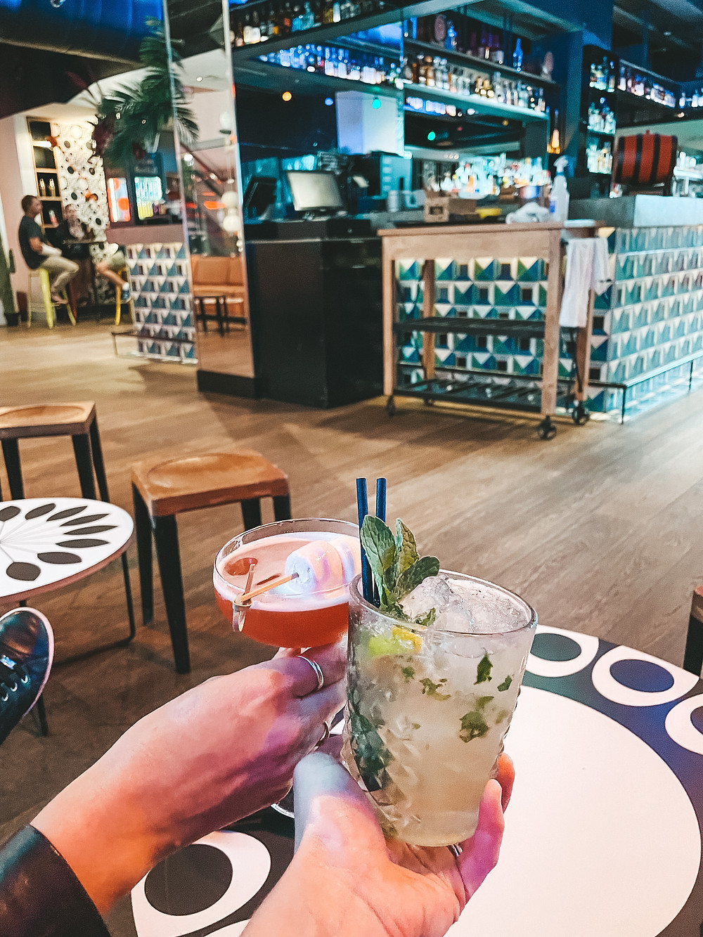 Cocktails at Stingray bar, QT Hotel Gold Coast