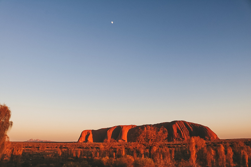 Sunrise Uluru Ayres Rock Northern Territory Australia