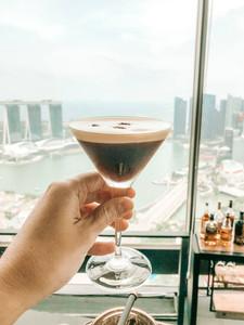 SKAI Bar and restaurant Singapore Swissotel the stamford rooftop bar espresso martini