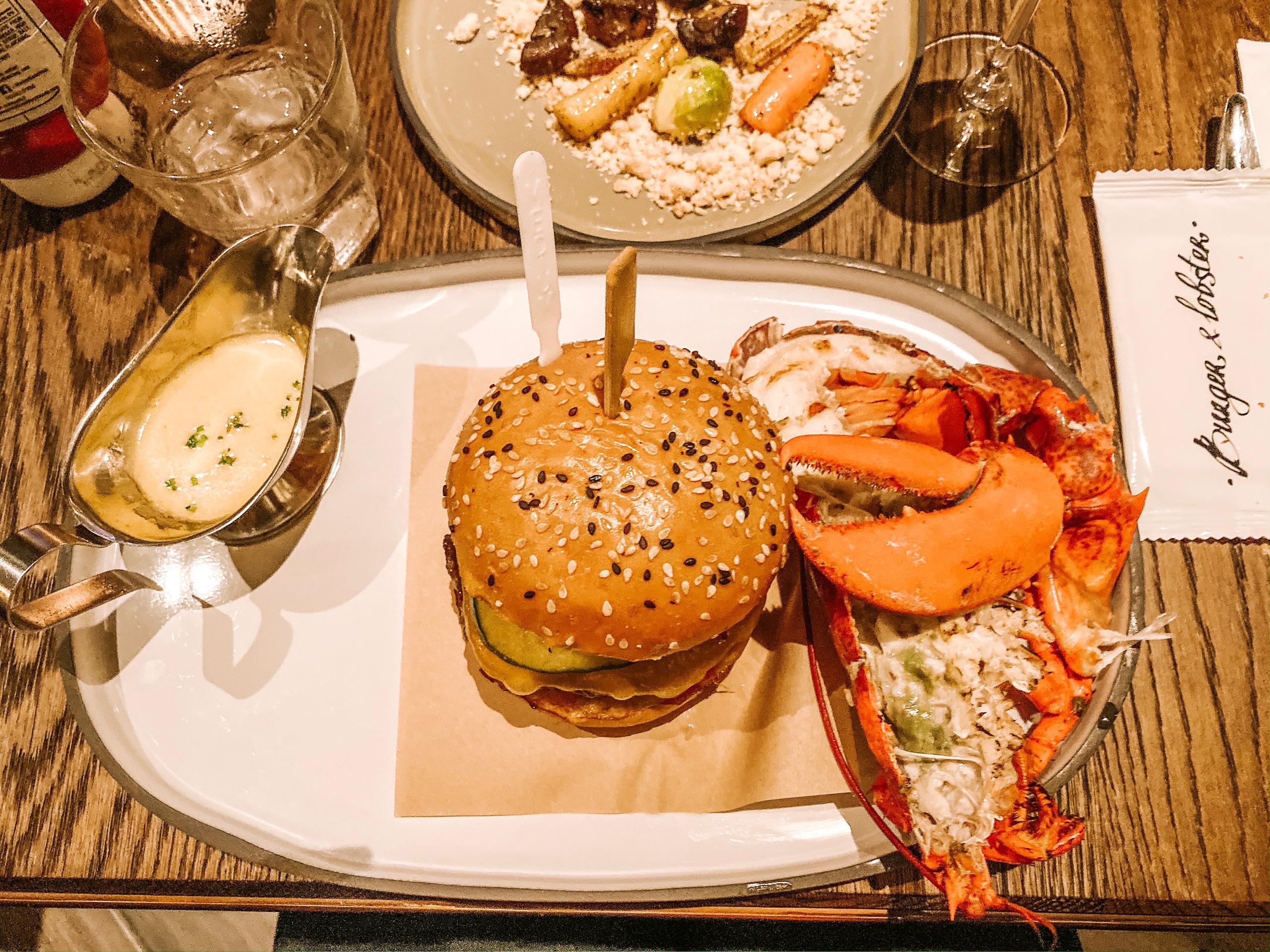 Burger & Lobster Raffles Hotel Singapore Mayfair Burger combo