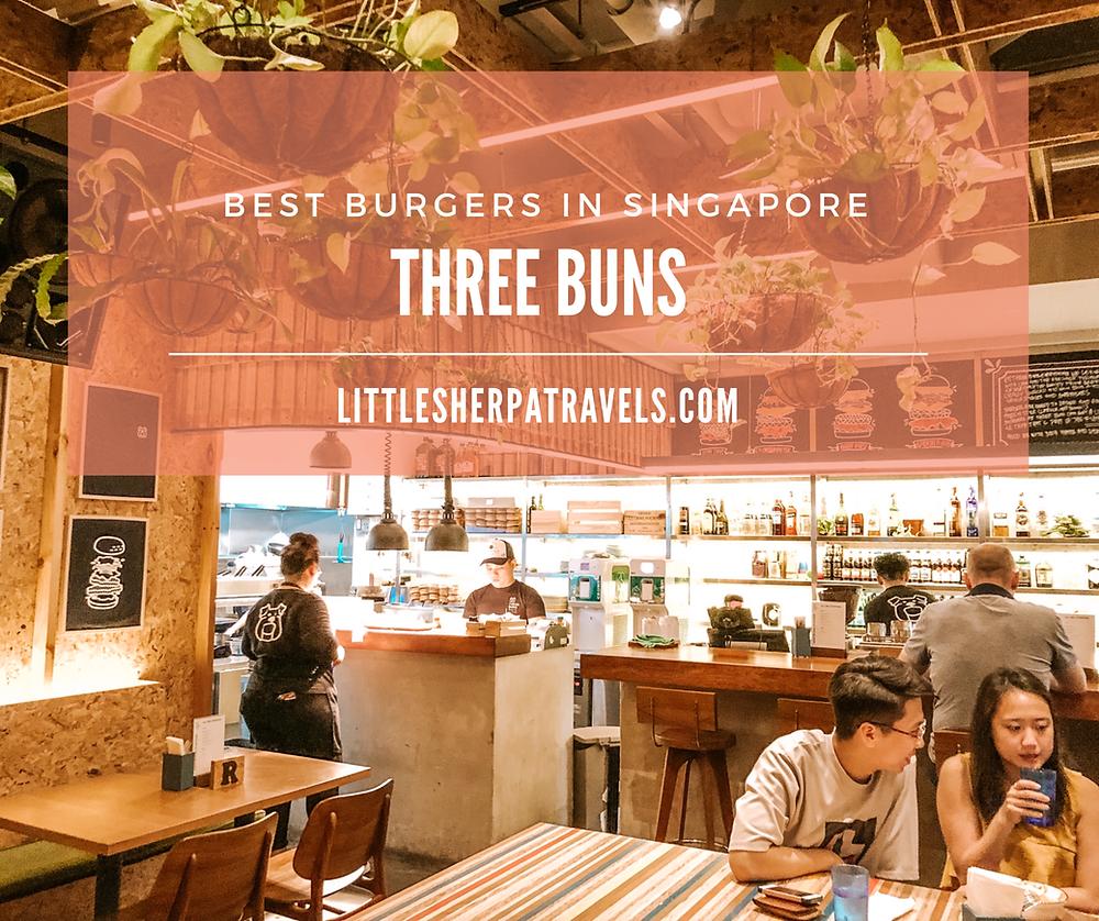 Best Burgers in Singapore: Three Buns, Quayside, Robertson Quay restaurant
