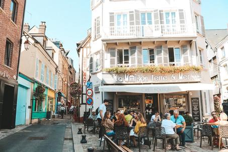 Honfleur Normandy France cafe la maison jerre