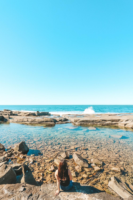 Angouire Blue and Green Rock Pools, Yamba NSW