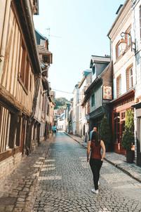 Honfleur Normandy France streets