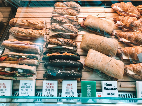 Tiong Bahru Bakery Raffles City sandwhiches