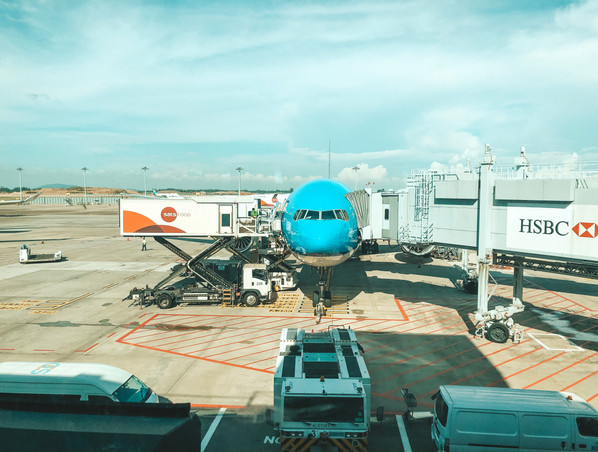 KLM Royal Dutch Airlines Singapore to Bali Singapore airport