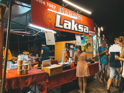 Mindil Beach night markets darwin laksa