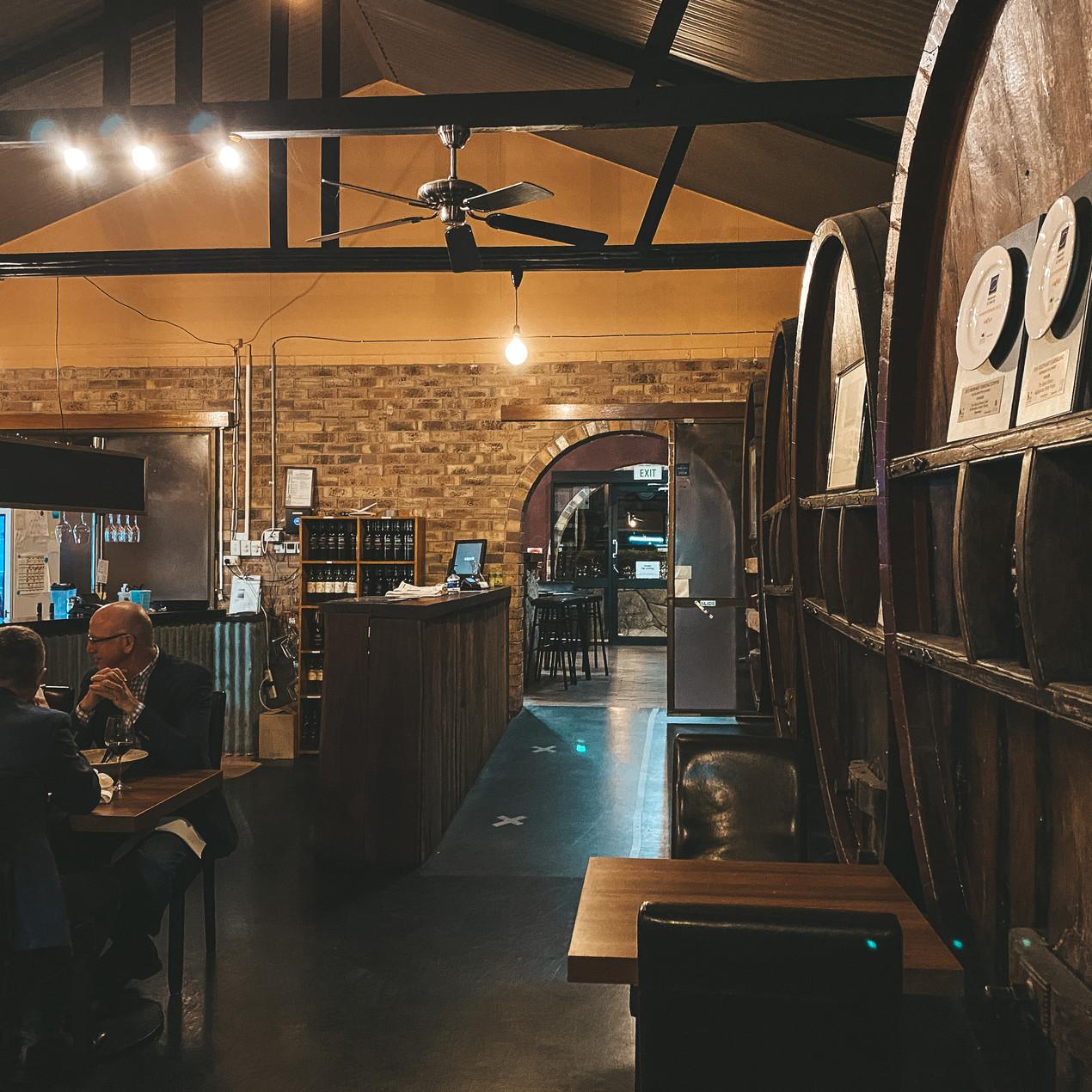 The Barrelroom restaurant Ballandean estate winery