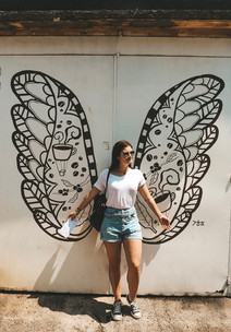 Georgetown penang street art butterfly
