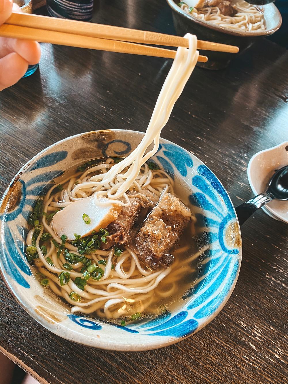 Okinawa Soba Japan noodles
