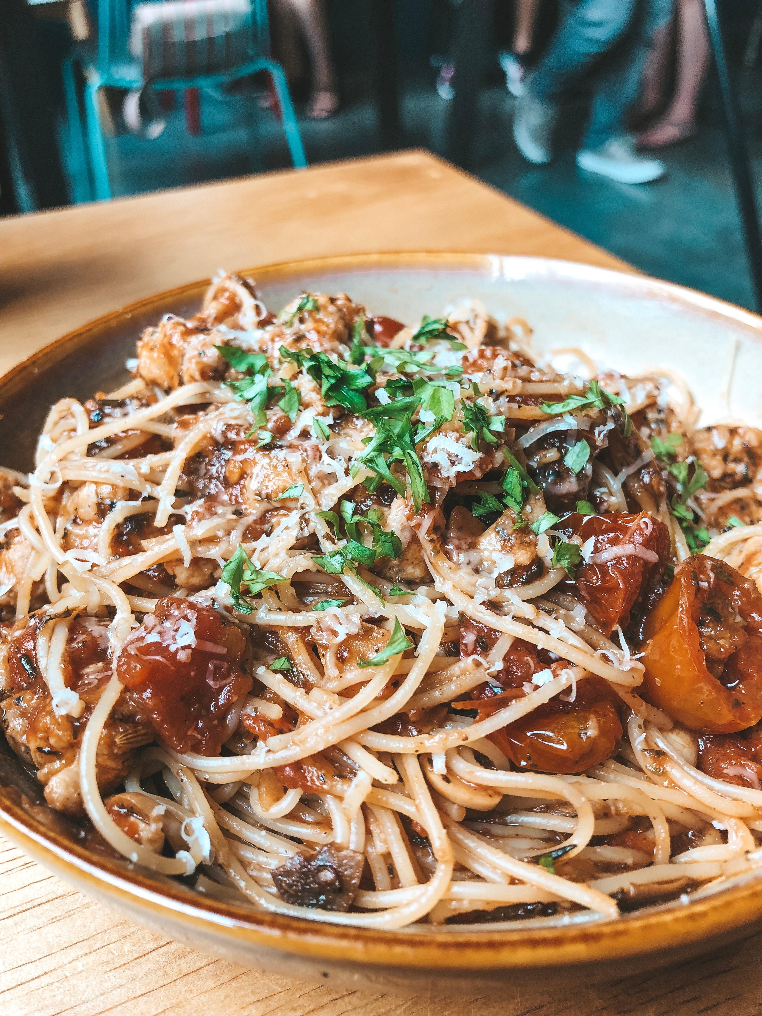 King and Prawn boardgame cafe singapore pasta