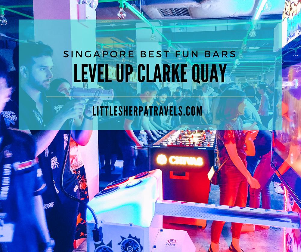 Level Up Singapores Retro arcade game bar clarke quay