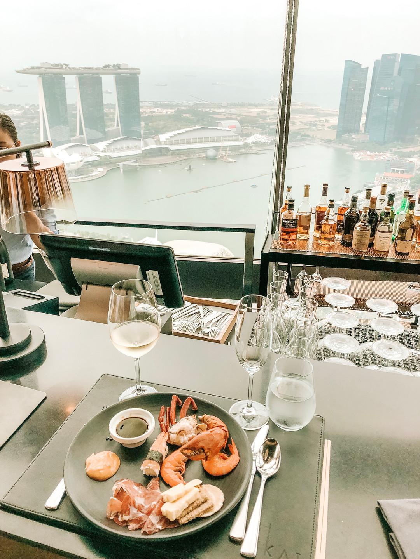 SKAI Bar Swissotel the stamford Singapore champagne buffet