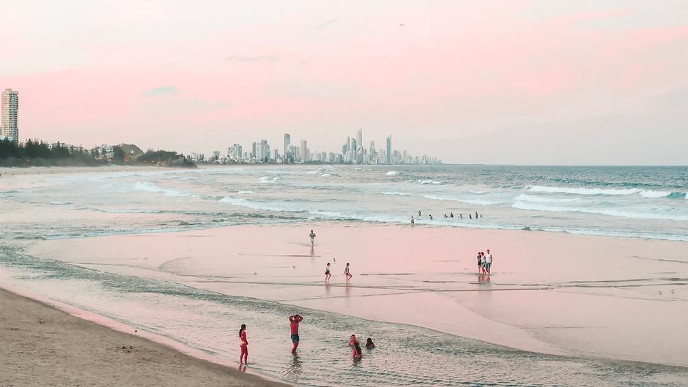 Burleigh Heads Gold Coast Australia beach