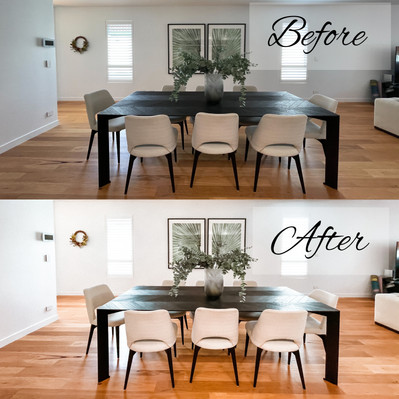 Before & After: Bright Interiro Mobile Lightroom Preset Package