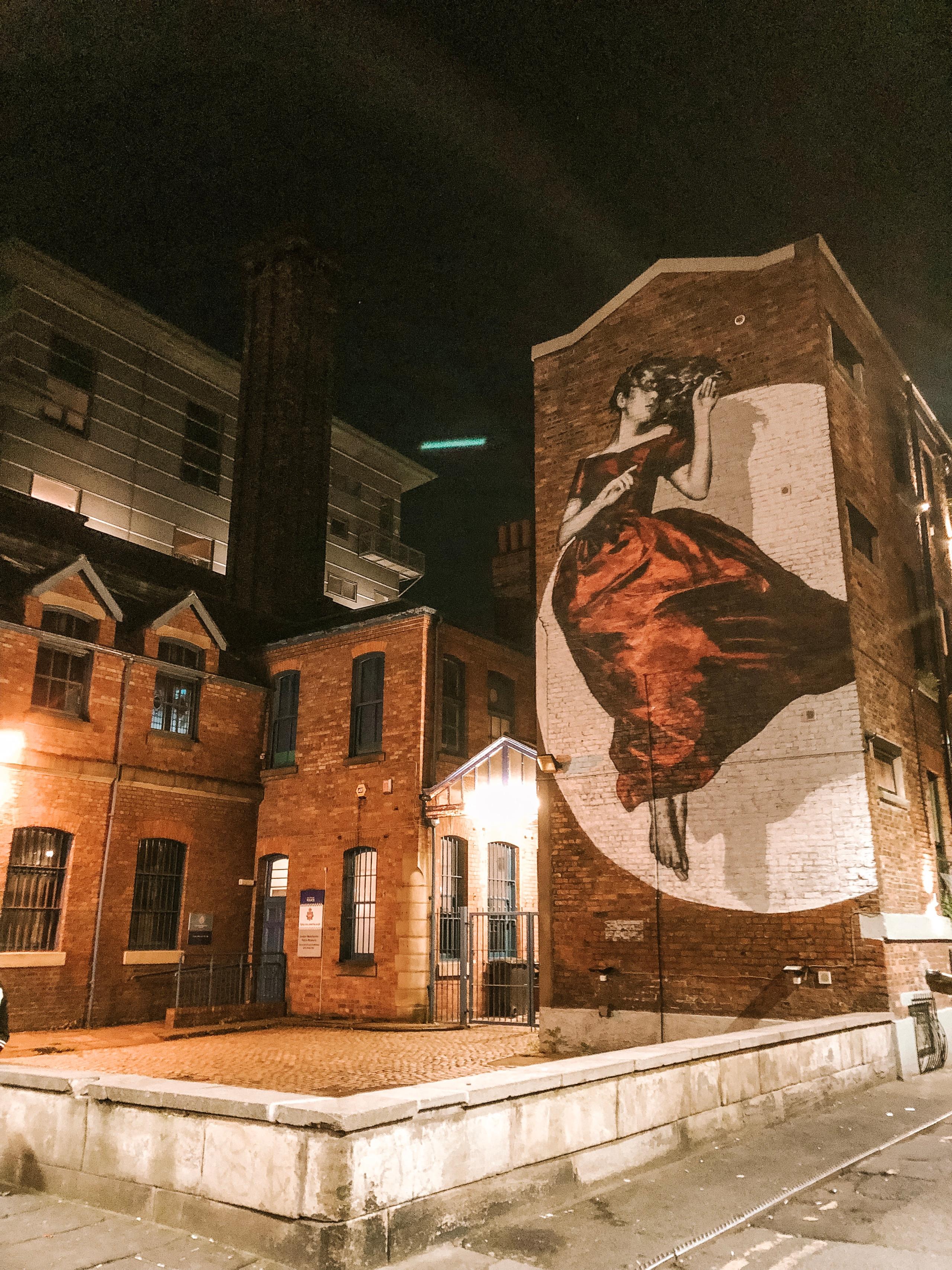 Northern quarter street art woman manchester
