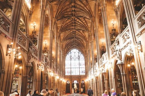 John Rylands Library Manchester reading room level three