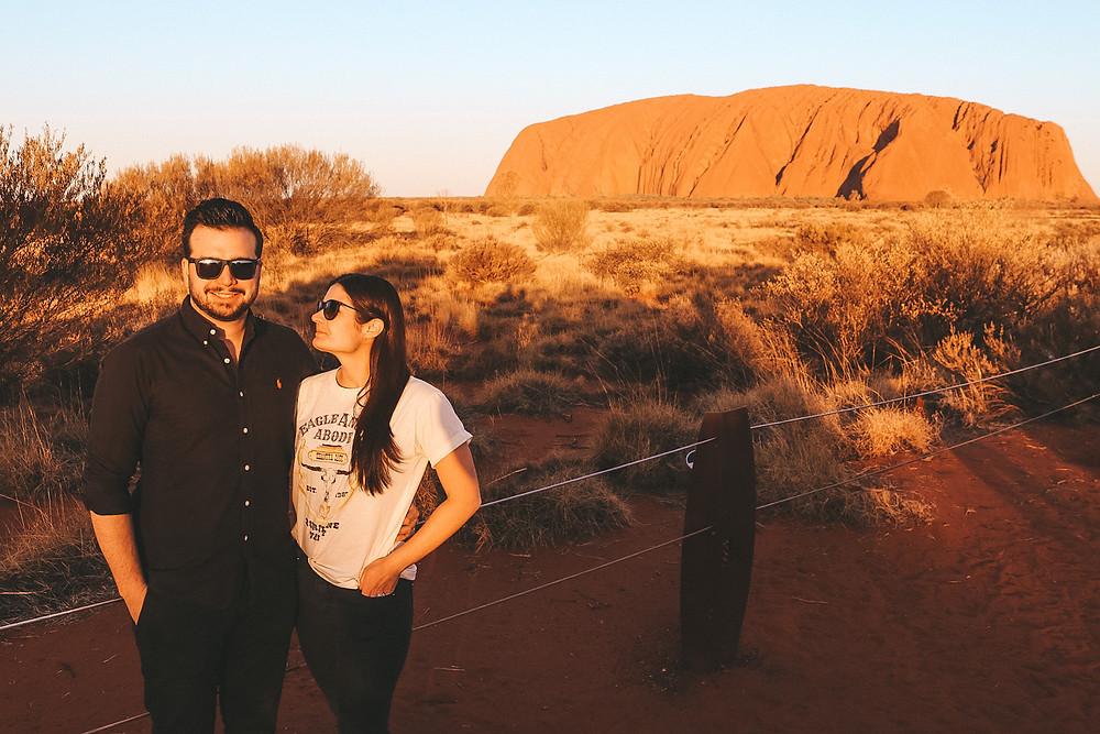 Sunset over Uluru Ayres Rock Northern Territory Australia