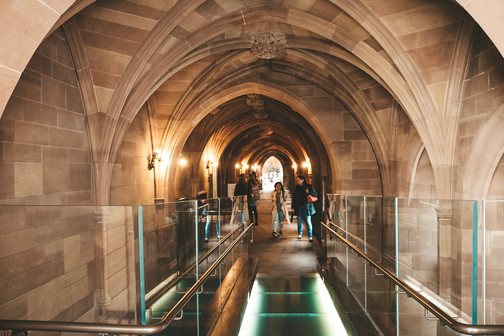 John Rylands Library hallway manchester