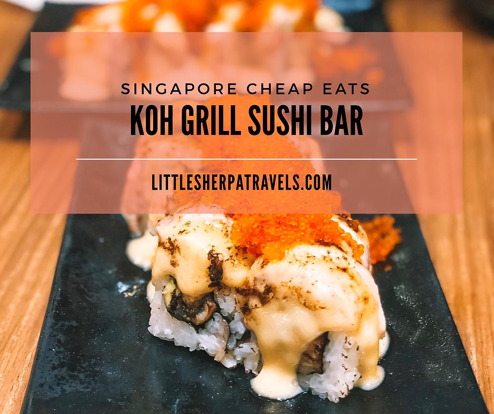 Kog Grill Sushi Bar Singapore Shiok Maki