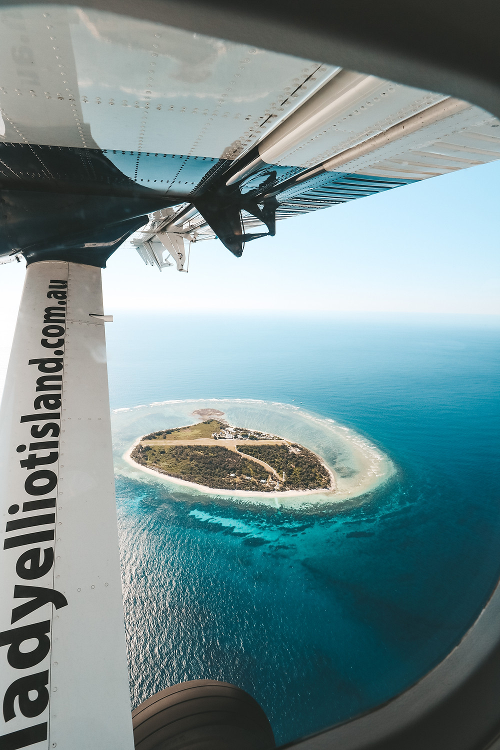 Lady Elliot Island views from above, Great Barrier Reef