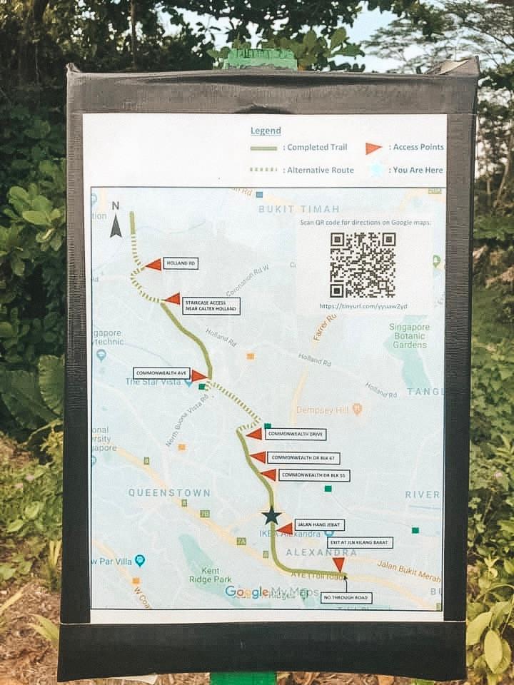 Singapore Green corridor greenway map