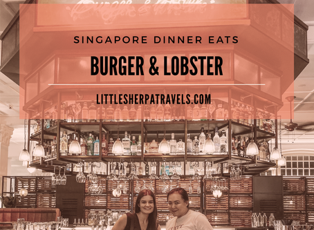 Burger & Lobster at Raffles hotel Singapore: Can't choose one? Choose Both!